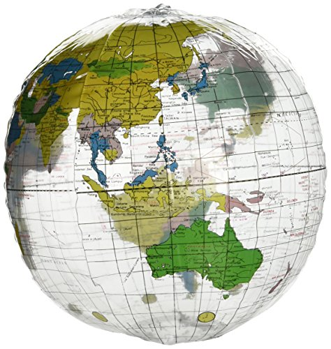12 Inch Clear Globe Inflate Beach Ball, Pack of 12 by Rhode Island Novelty