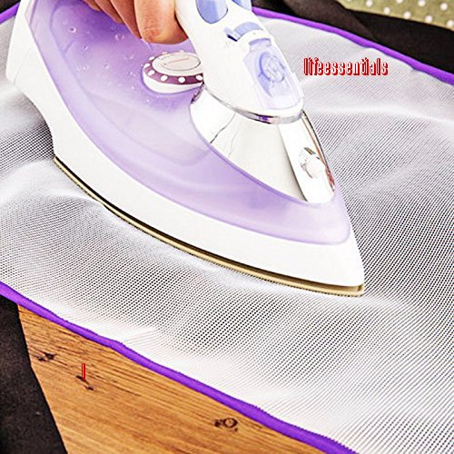 Protective Ironing Scorch Mesh Cloth Cover Mat for Ironing Board Pressing Pad ,Random Color Iron protector Guard