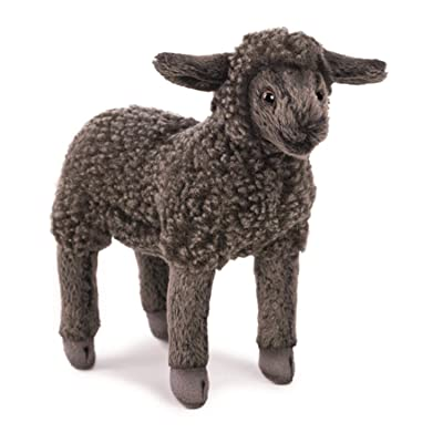"Hansa Little Lamb Plush, 7"", Black: Toys & Games"
