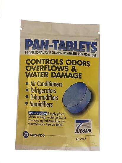 Pan Tablets – 30 count: limpia la suciedad en drenaje sartenes y humidificadores