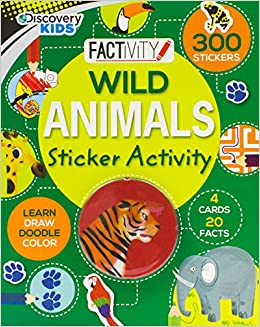 Discovery Kids Wild Animals Sticker Activity