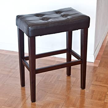 Amazon Com Palazzo 26 Inch Saddle Counter Stool Brown