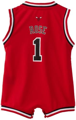 new products ef551 caa96 Infant Chicago Bulls Derrick Rose #1 Away Onesie Jersey NBA