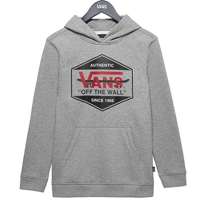 Vans Kids Seasonal Pullover Hoodie -Fall 2018- Cement Heather: Amazon.es: Ropa y accesorios