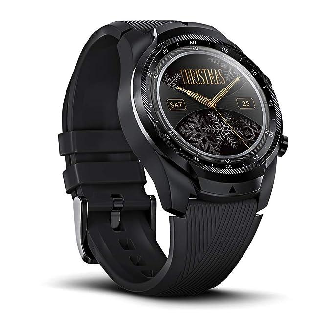 Ticwatch Pro Smartwatch Reloj Inteligente Memoria de 4GB + 1G RAM Seguimiento del sueño Ejercicio Fitness GPS (Servicio 4G / LTE Solo Disponible en ...
