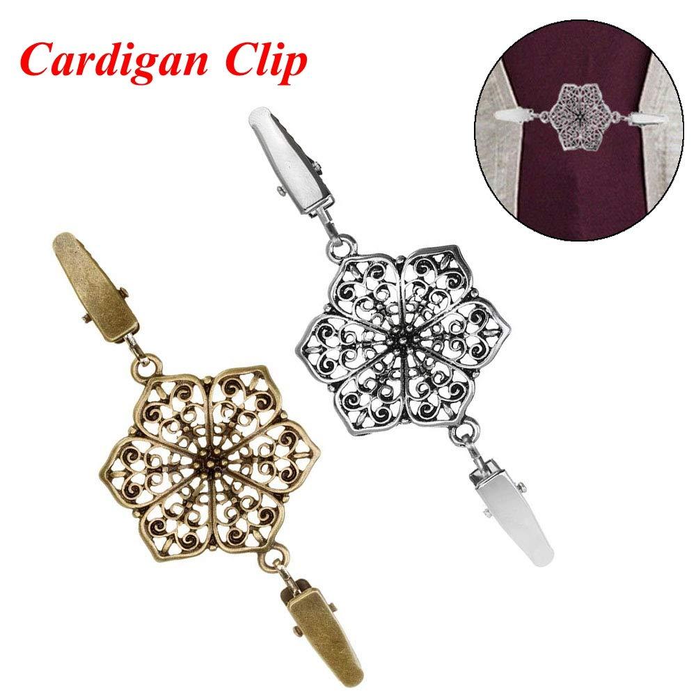 Dragonface Femmes Cardigan Chemisier Pin /écharpe Broche Clips Collier Canard r/étro Clip Hiver /écharpe fermoirs Charms Accessoires