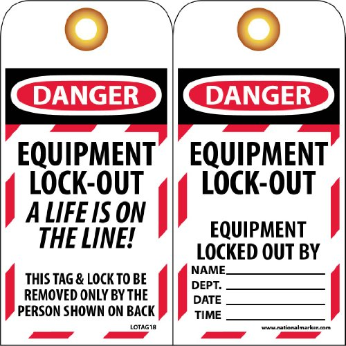 Standard Tags Lockout (NMC LOTAG18 Lockout Tag,