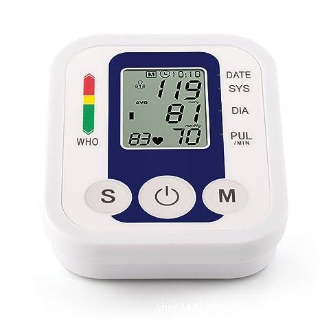 Tensiómetro digital automático electrónico brazo presión arterial y pulso Medidor de Ritmo de detector Who
