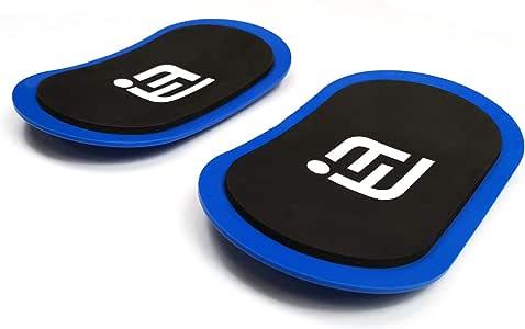 O RLY Exercise Slider Smooth Sliding on Carpet and Non-Carpet Surface Blue