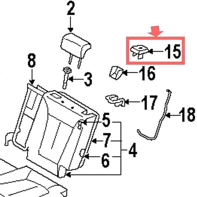 Amazon Com Automotiveapple 893812b000wk 2nd Back Seat Recline Lever