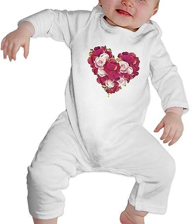 Rasyko - Pelele para bebé con diseño de Flores y Corazones: Amazon.es: Ropa y accesorios