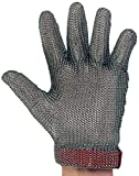 UltraSource 441040-M Stainless Steel Mesh Glove, Wrist Length Cuff with Replaceable Strap, Size Medium, Each