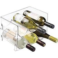 mDesign Juego de 2 botelleros de vino –