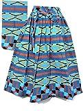 Decoraapparel African Wax Ankara Maxi Women Long Skirt Elastic Waist Belt 1 Size