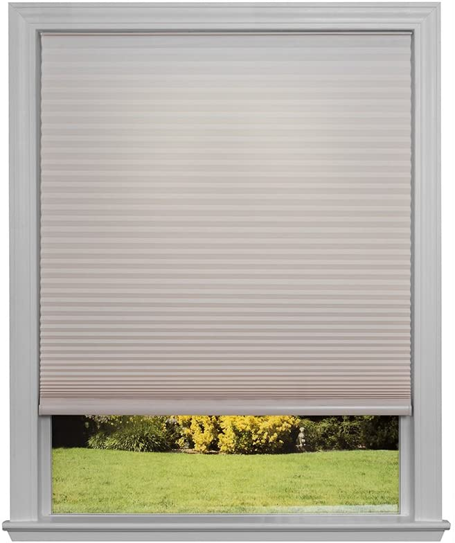 """Easy Lift Trim-at-Home Cordless Cellular Light Filtering Fabric Shade Natural, 30 in x 64 in, (Fits windows 19""""- 30"""")"""