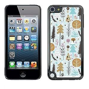 """Pulsar Snap-on Series Teléfono Carcasa Funda Case Caso para Apple iPod Touch 5 , Árbol del regalo del oro Papel Vacaciones de Invierno"""""""