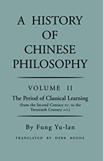 Image for A History of Chinese Philosophy Volume II The Period of Classical Learning