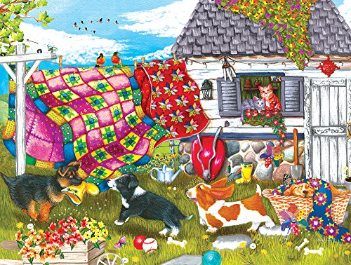 Backyard Pups 500 Piece Jigsaw Puzzle by SunsOut