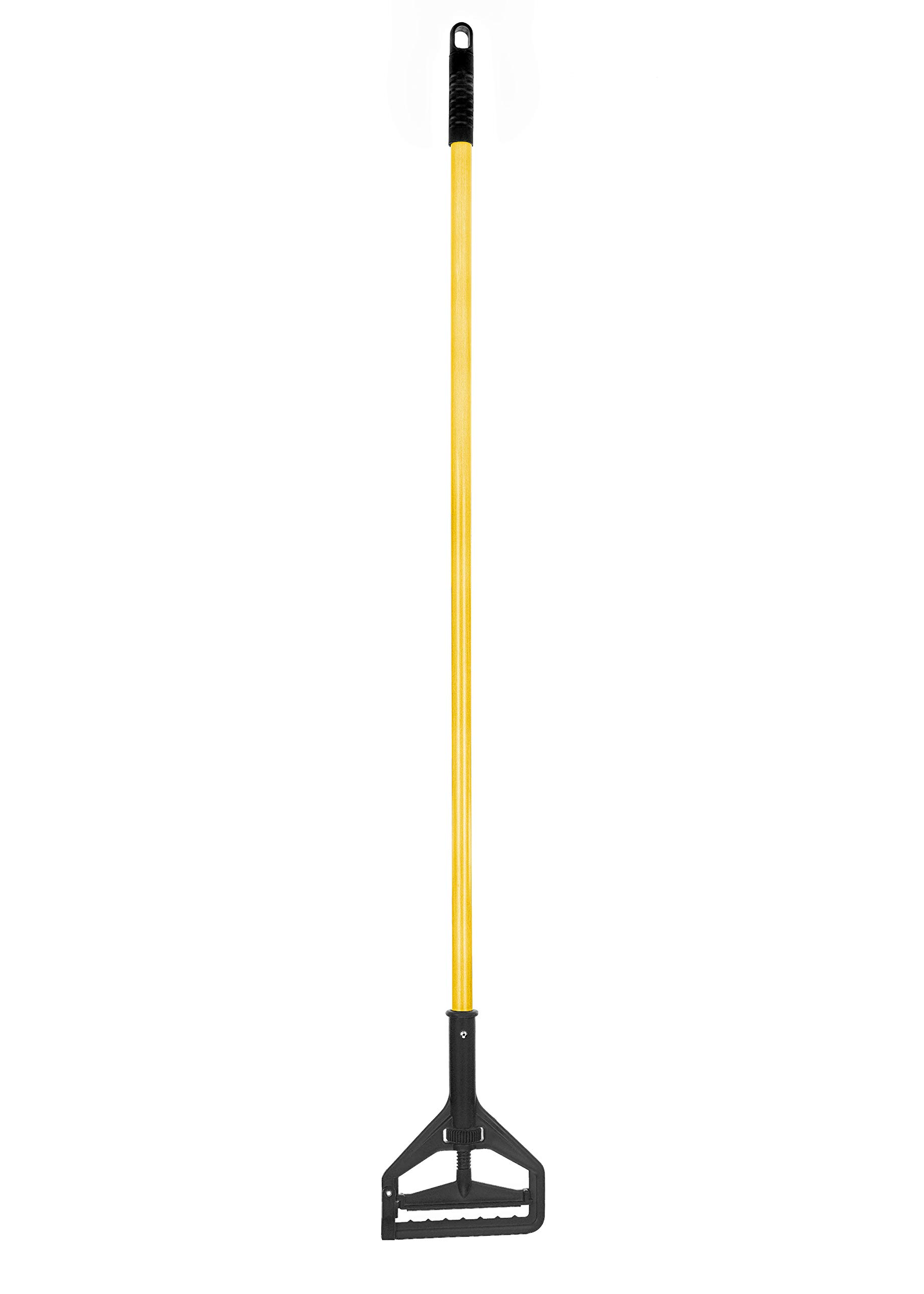 Alpine Industries Commercial Quick-Change Iron Mop Handle - Professional Mopping Tube w/Metal Gripper for Rags - Heavy Duty Stick & Mop Head Replacement Holder for Wet & Dry Floor Floor Cleaning by Alpine Industries