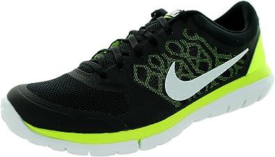 Nike Flex 2015 RN - Zapatillas de Running para Hombre, Color Negro/Lima/Blanco, Talla 43: Amazon.es: Zapatos y complementos