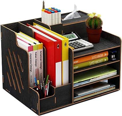 forniture per ufficio documenti e riviste grande capacit/à per bricolage Organizer da scrivania in legno Cherry Wood