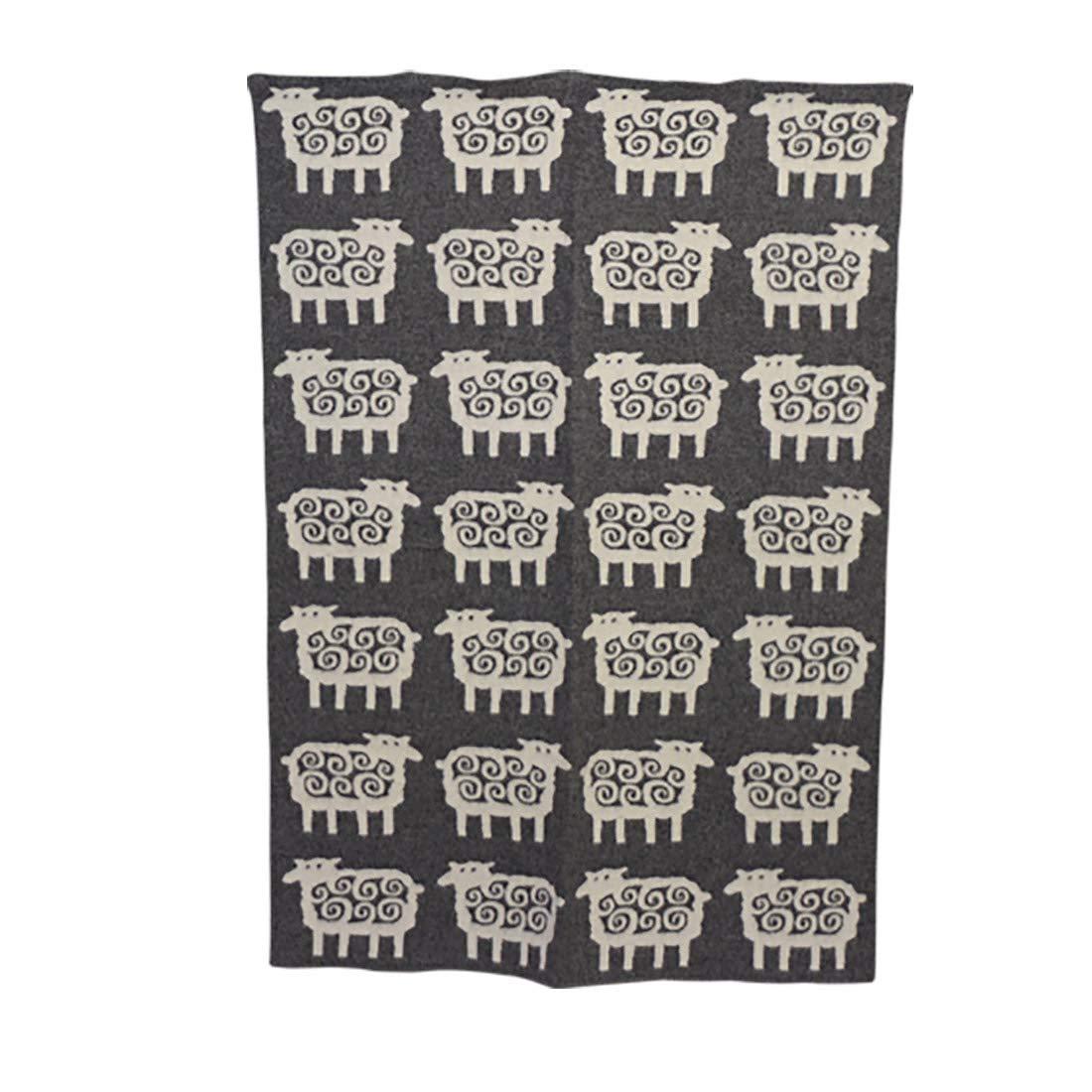 [クリッパン] KLIPPAN ウールブランケット 130x180 Sheep グレー [並行輸入品] B00H39KBDM