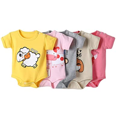 fd3915180cf0 Amazon.com  WensLTD Clearance! Newborn Infant Baby Boys Girls Cartoon Print  Romper Jumpsuit Outfits Clothes  Clothing