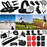 Xtech BASEBALL ACCESSORIES Kit for GoPro Hero 4 3+ 3 2 1 Hero4 Hero3 Hero2 - Hero 4 Silver - Hero 4 Black - Hero 3+ Hero3+ Hero 3 Silver - Hero 3 Black and for basketball - Soccer - Football - Golf - Golfing - Tennis - Baseball - Volleyball - Beach-ball - Hockey - Ice Hockey and other Similar Sport Activities Includes: + Head Strap Mount + Helmet Harness Mount + Chest Strap Mount + 2 J-Hook Mount + Camera Wrist Mount + Selfie Stick Monopod Pole + MORE