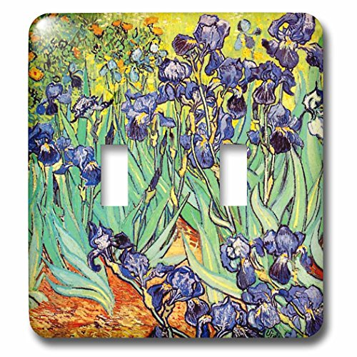 3dRose LLC 3dRose LLC lsp_155630_2 Irises by Vincent van Gogh 1889 - purple flowers iris garden - copy of famous painting by the master - Double Toggle Switch ()