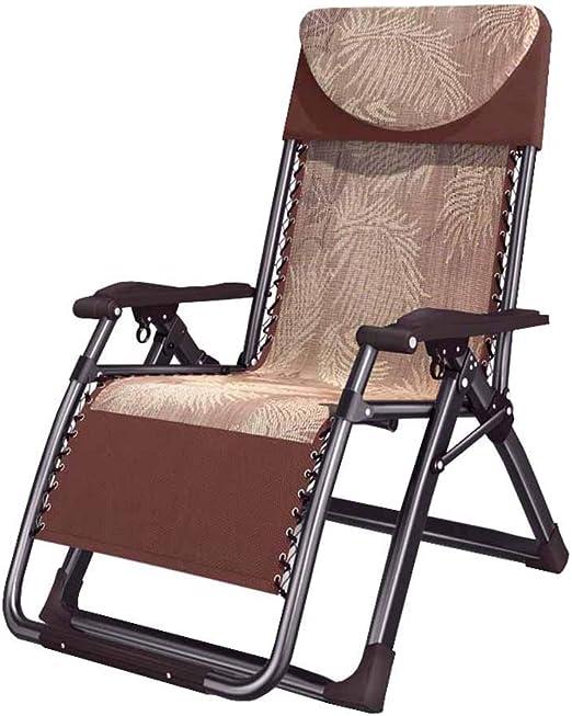 WYJW Ampliación Silla Plegable reclinable Sillas de jardín