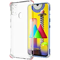 Samsung Galaxy M31 Case Cover Clear Ultra Slim Shockproof Anti-Slip Grip Soft Transparent case with Best Camera…