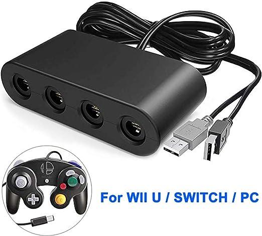 The perseids GameCube Adaptador de Controlador, Controller Adapter, Compatible con Nintendo Switch Wii U, PC USB y Switch, 4 Puertos: Amazon.es: Videojuegos