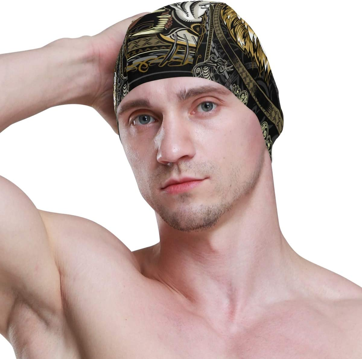Swim Caps Cute Cartoon Animal Tiger Face Hipster Crown Swimming Cap Hat Waterproof Bathing Shower Hair Cover for Adult Men Women Youth Girls Boys
