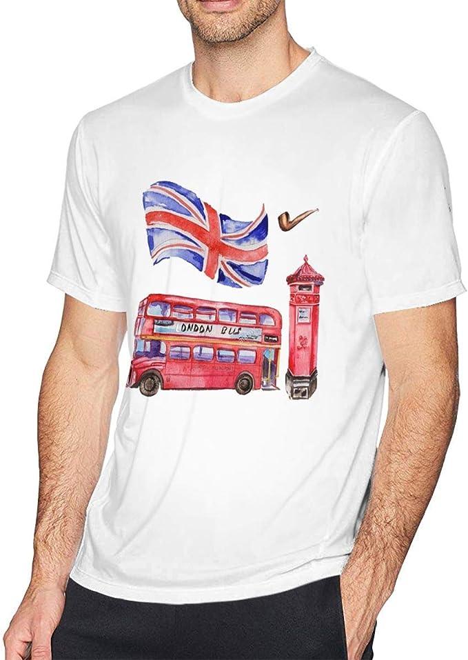 Sporsy Camisetas y Tops Hombre Polos y Camisas,Men London Cartoon ...
