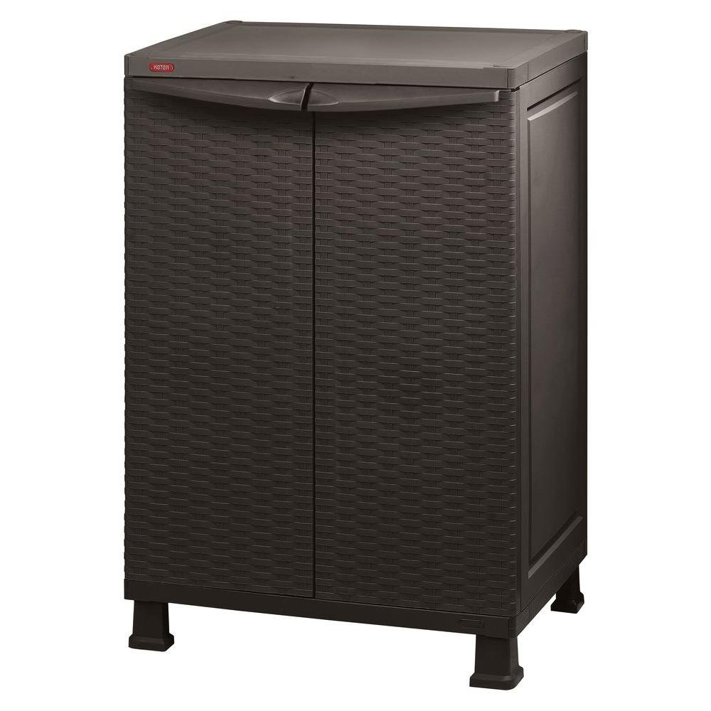 Keter 215659 26 x 39 Freestanding Indoor/Outdoor Plastic Rattan Base Cabinet
