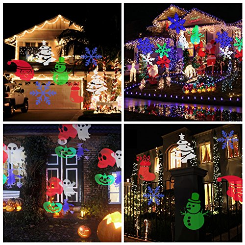 Amazon.com: Party Projection Lights Led Projector Light, Kohree Outdoor  Light Snowflake Spotlight 10 Pattern Sparkling Landscape Lights For Holiday  Party ...