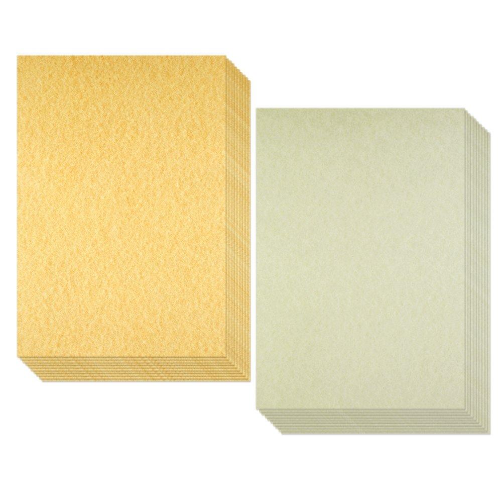 Biging, carta pergamena invecchiata in finta cartapecora antica, perfetta per scrivere, 50fogli in formato A4 50fogli in formato A4
