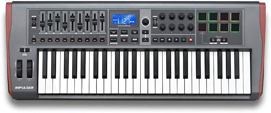 Novation Impulse 49 - Teclado MIDI (USB, 84,6 cm, 33,2 cm, 10 ...