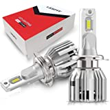 LASFIT H7 LED Headlight Bulbs, Cool White 6000K LED Conversion Kit, New LC Upgrade Adjustable High Low Beam 2pcs