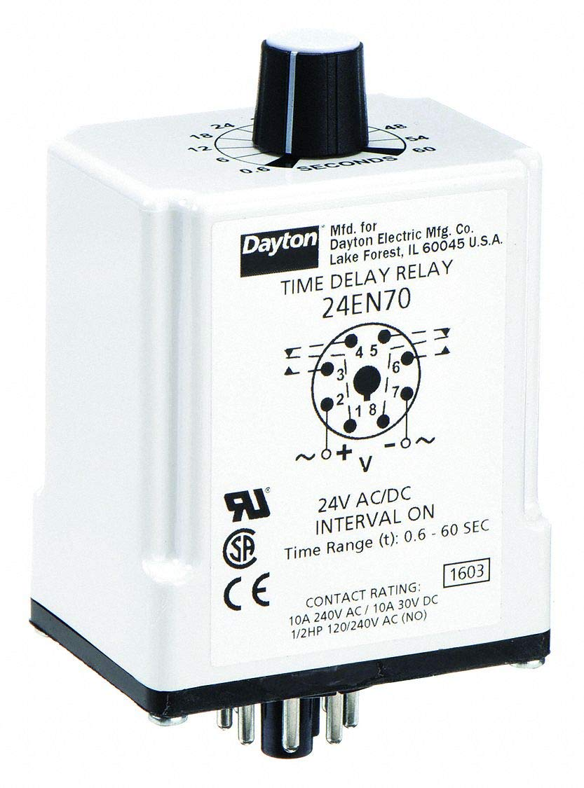 Dpdt 24Vac//Dc Time Delay Relay 10A