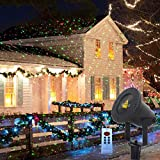 Outdoor Projector Lights Firefly Garden Light Projector Red and Green Stars Christmas Projector Lights Outdoor with RF remote for Christmas Holiday and Garden Show Decora