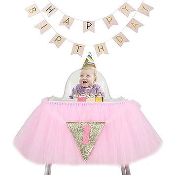 24e7df20a6140 Veni Masee Hommes adultes bébé 1st fête d anniversaire Bannière Décoration Paillettes  Tulle Tutu pour