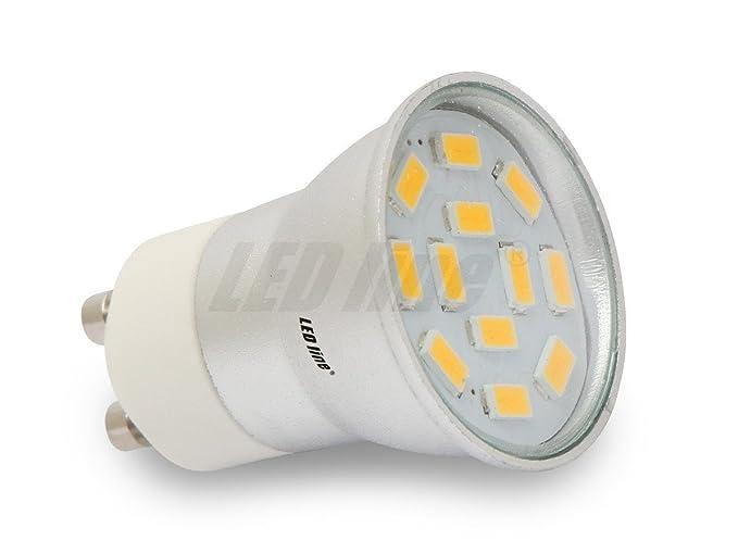 GU10 GU11 LED bombilla mini a CCD 2 W 230 V + 12 x 5630 con