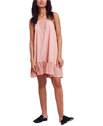 5ff70612727db Free People Women's Calico Cotton Trapeze Slip Dress (Coral, Small ...