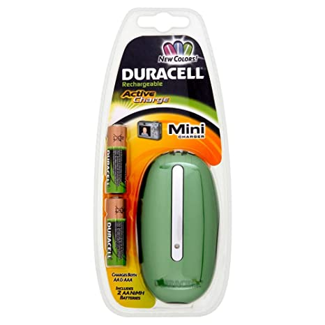 Duracell Mini Charger (Blue) + 2xAA Cells: Amazon.es ...