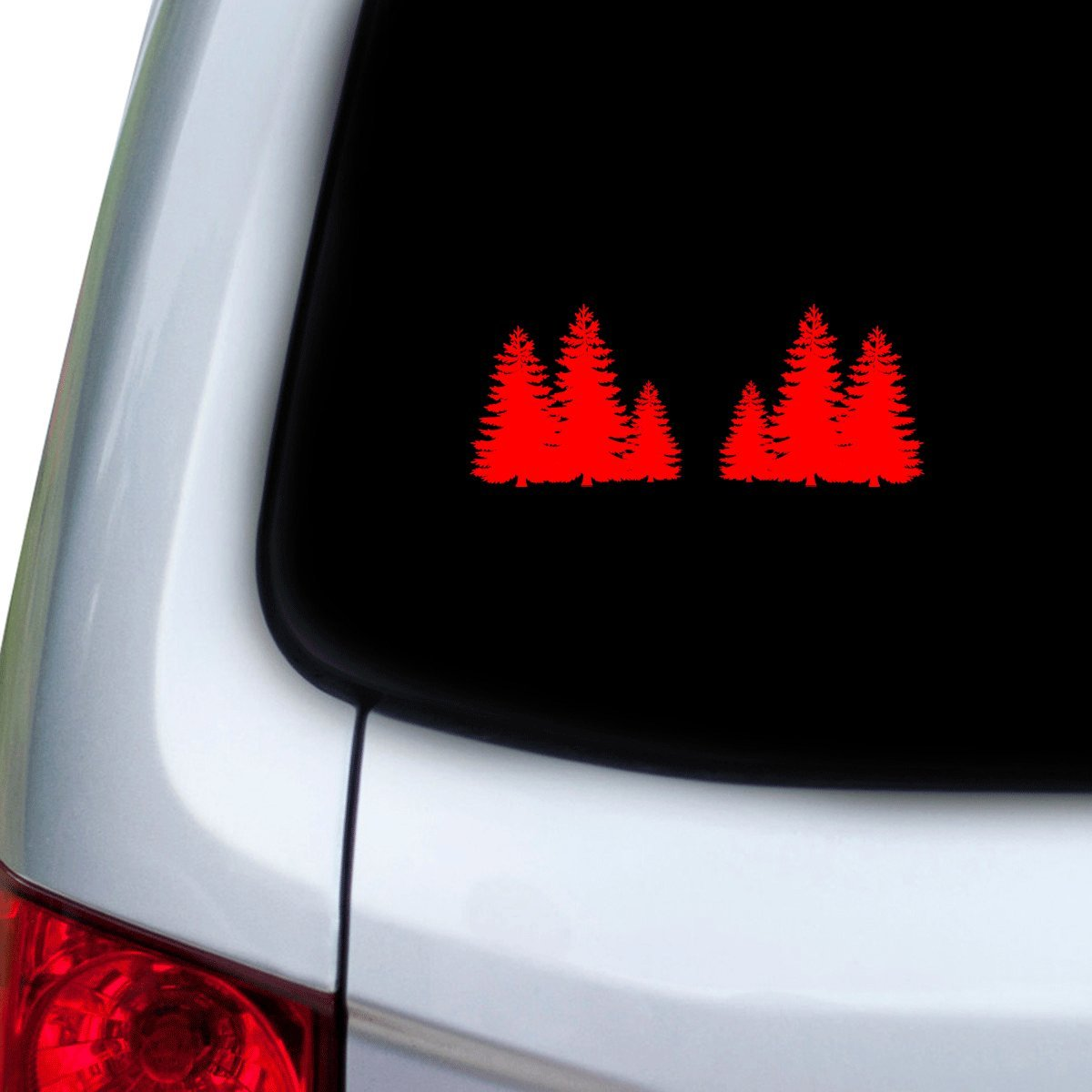 Hoods StickAny Car and Auto Decal Series Hiding Forest Trees Sticker for Windows Red Doors