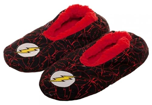 c959f1ed2ba2 DC Comics The Flash Shield Plush Cozy Unisex Adult Slippers (Small Medium)