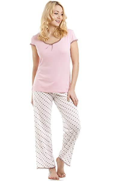 Pijama ligero - Mezcla de algodón - Lunares - Rosa 38/40