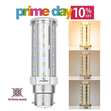 Escalera de intensidad regulable LED maíz luz bombilla, B22 ...