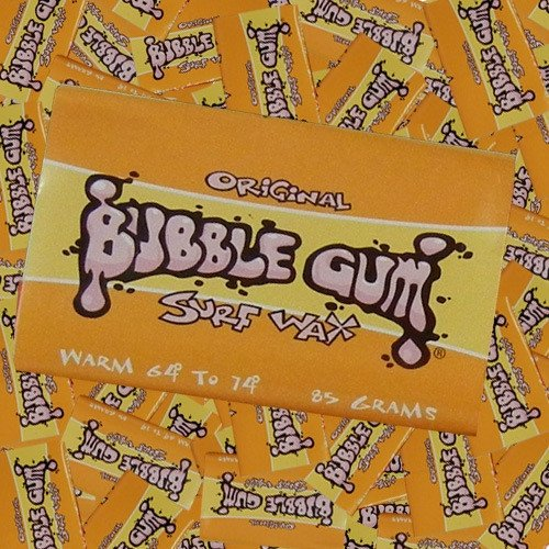 Bubble Gum Original Surf Wax Warm (64¡- 74¡) Single Bar